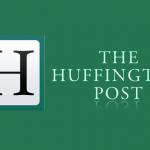 Die Huffington onderrok sleep op die grond